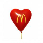 Herzballon, Ø 33 cm