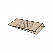15 x (6) x 29 cm, Kraftpapier braun, 1-seitig bedruckt