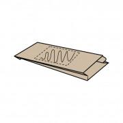18 x (8) x 34 cm, Kraftpapier braun, 1-seitig bedruckt